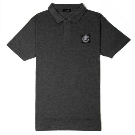 "Senlak ""Cenric"" Polo Shirt - Heather Charcoal"